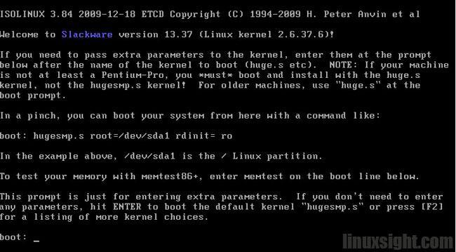 Slackware13安装图解(一)