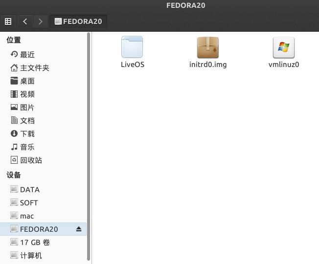 硬盘安装Fedora 20 LiveCD